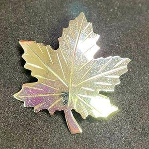 BOND BOYD Sterling Silver Maple Leaf Pin